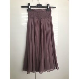 NWOT Aritzia Wilfred Pleated Skirt Mid Midi Purple